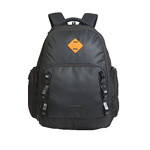 Wildcraft Imprint Plus Laptop Backpack With Gadget Organizer - Black Coated