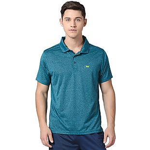 Wildcraft Men Poly Polo T-Shirt - Teal