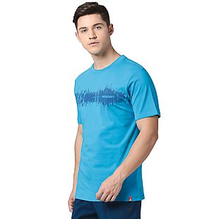 Wildcraft Men Printed T-Shirt - Blue